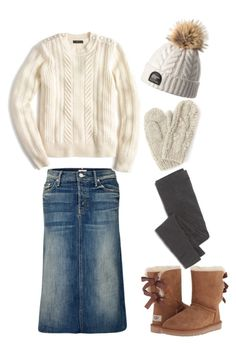 """""""Wanna build a snowman?"""" by lizardbeth95 on Polyvore featuring UGG Australia, Madewell, Mother, J.Crew and Bibico"""