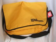 """Tennis Sports Bag 20"""" x 16"""" ; Incredibly Strong Polyester, Interior Personal Organizer, Adjustable Shoulder Strap by Wilson. $35.95 Personal Organizer, Racquet Sports, Under Armour, Shoulder Strap, Tennis, Outdoors, Strong, Backpacks, Interior"""