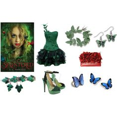 """Splintered by A.G. Howard inspired book look"" by beesha1 on Polyvore"