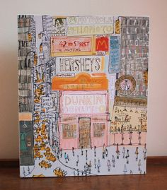 DUNKIN DONUTS NYC New York Times Square Canvas Wall Decor