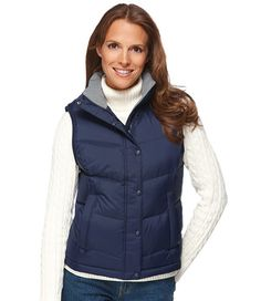 LL Bean Vest - LOVE!!! Functional and preppy! Perfect for chilly Fall days or Winter nights. Not too bulky and much warmer than the J.Crew vests. This is super cute, I feel like a duchess out in the English country side when I wear this, and I wear this all the time! I take it out in the Fall, but its good right through the Winter.