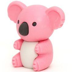 pink koala bear eraser by Iwako from Japan 1