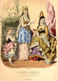 La Mode Illustree 1872, France.  from oldrags.tumblr.com