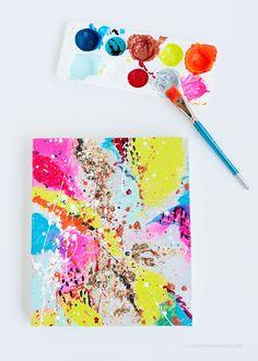 DIY: abstract art