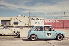 2012 Waterford Hills Vintage Races by Michael Simari, via Behance Mini Cooper Classic, Mini Cooper S, Classic Mini, Classic Cars, Vintage Sports Cars, Vintage Race Car, Retro Cars, Mini Clubman, Mini Countryman