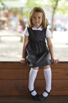 Eco-friendly school uniform | School Pinafore in grey made from pure organic cotton