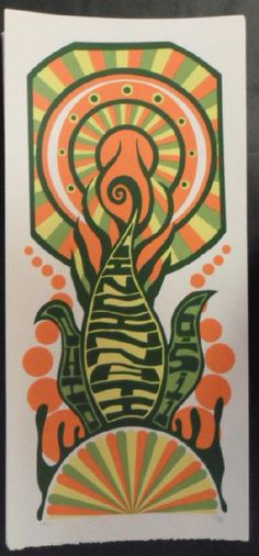 Original silkscreen concert poster for Phish at The Riverbend Music Center in Cincinnati, OH on 6/5/11. It is printed on Watercolor Paper with Acrylic Inks and measures around 10 x 22 inches.  Print is signed and numbered out of 115 by the artist Tripp.