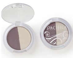 Pacifica Mineral eyeshadow duo in moonbeam & unicorn $4 - swatched.