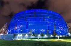 Sprint Center in blue.