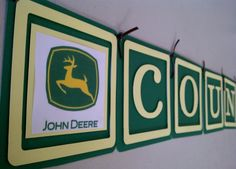 John Deere themed banner for a boy's bedroom