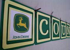 John Deere themed banner for a boy's bedroom