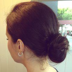 Rose petal bun by Liz Fanlo Makeup and Hair Bridal Hair Buns, Rose Petals, Bun Hairstyles, Hair Accessories, Ear, Makeup, Make Up, Hair Accessory, Beauty Makeup
