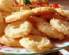 Vanilla Butter Ring Cookies - Lovefoodies
