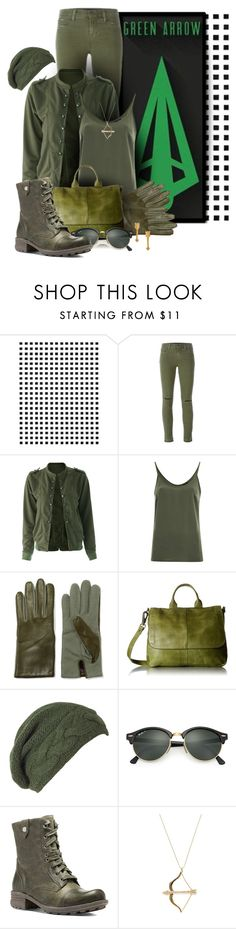 """DC: Green Arrow"" by darksyngr ❤ liked on Polyvore featuring Camp, J Brand, VILA, AGNELLE, Latico, Laundromat, Ray-Ban, Cobb Hill, Sydney Evan and Catherine Weitzman"
