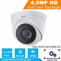 In stock Hik 2017 New Series IP Camera CMOS Motorized Vari-Focal CCTV Camera 4MP DS-2CD1H41WD-IZ  Lens 2.8~12mm #Affiliate