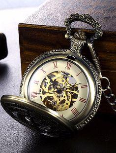 Engraved Twelve Constellations Vintage Pocket Mechanical Watch