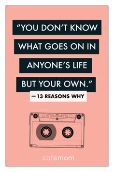 13 reasons why quotes 13 Reasons Why Quotes, 13 Reasons Why Netflix, Thirteen Reasons Why, Why Me Quotes, Sassy Quotes, Movie Quotes, Book Quotes, Life Quotes, Quotes Quotes