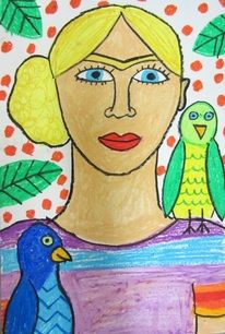 This art lesson is a great way to learn about an artist, a culture and self-portraits. Frida Kahlo is an artist from Mexico who was known for her self-portraits , a picture you draw of yourself. In...