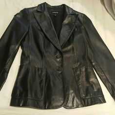 Express Genuine Leather Blazer Like new. No signs of wear. Express Jackets & Coats Blazers