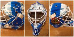 Antti Niemi's Finland goalie mask. #TealGoesForGold