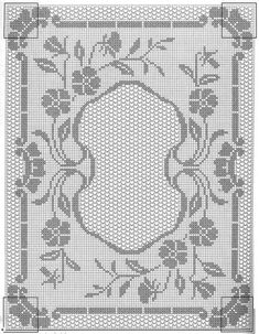 Only Crochet Patterns Part 8 - Beautiful Crochet Patterns and Knitting Patterns Crochet Doily Diagram, Filet Crochet Charts, Crochet Doily Patterns, Crochet Motif, Crochet Designs, Crochet Doilies, Crochet Table Runner, Crochet Tablecloth, Fillet Crochet