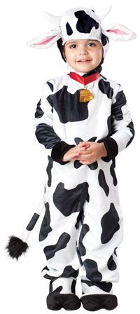 Farm Animal Costumes for Kids - Such a cute baby cow costume!