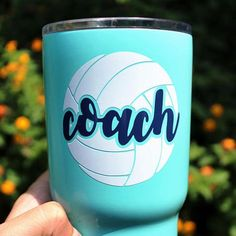 Volleyball Name DECAL Two Color - Volleyball Sticker - Volleyball Coach Gift - Volleyball Team Gift Volleyball Party, Volleyball Team Gifts, Volleyball Drills, Volleyball Quotes, Coaching Volleyball, Girls Softball, Volleyball Players, Girls Basketball, Cheerleading Gifts