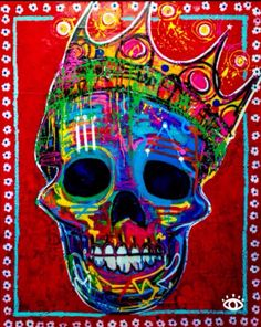 Created by artist Baron Batch, POP-X is a blend of Pop Art and Expressionism. Halloween Makeup Sugar Skull, Sugar Skull Costume, Cool Halloween Makeup, Halloween Stuff, Costume Halloween, Sugar Skull Tattoos, Sugar Skull Art, Sugar Skulls, Skeleton Art