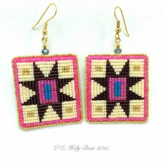 Square Stitch Earrings