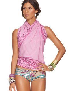 OndadeMar Womens Mosaic Tie-Dye Long-Sleeve Romper