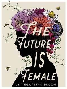 """THE FUTURE IS FEMALE"" Poster designed by Brooke Fischer of Notice Designs for the Women's March on Washington 2017. For sale on Zazzle. 18""x24"""