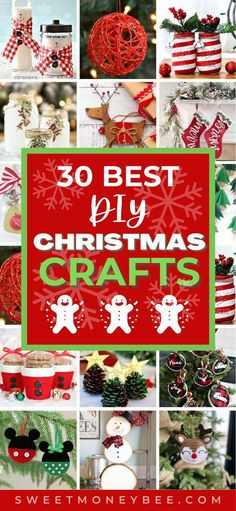 Easy DIY Christmas Crafts for Kids and For Adults That Also Make Great Christmas Home Decorations