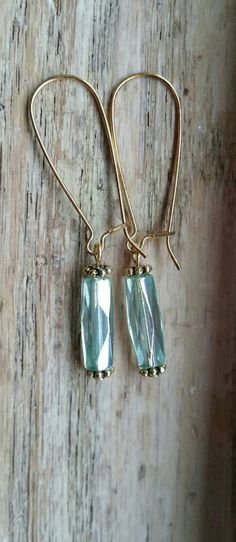 Check out this item in my Etsy shop https://www.etsy.com/listing/250056684/czech-faceted-glass-tube-earrings-pale