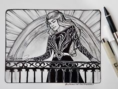 Feyre by @whimsicalillustrations