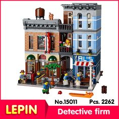 36.00$  Watch now - http://aiw4n.worlditems.win/all/product.php?id=32794078459 - LEPIN 15011 2082Pcs Street View Series Detective Firm Model Building  Blocks Bricks Gift Compatible With Legoe 10246