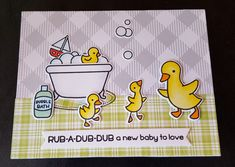 Rub A Dub Dub stamp and die, and Pivot die by Lawn Fawn.  Design by Debra Lord for Scrappin' in the City.