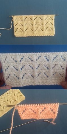 Best Beautiful Easy Knitting Patterns – Knittting Crochet - knitting for babies Knitting Stiches, Easy Knitting Patterns, Lace Knitting, Knitting Designs, Knitting Ideas, Diy Crafts Knitting, Knitting Projects, Gilets, Crochet Flowers