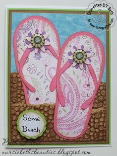 ScrappyDew.com Designs by Dewettes Project created using Flip Flops pattern file from the ScrappyDew Vault