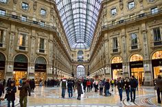 The Galleria Vittorio Emanuele ll is one of the worlds oldest shopping malls. Housed within a four-story double arcade in central Milan, the Galleria is named after Vittorio Emanuele. Galleria Vittorio Emanuele Ii, Villas In Italy, One Summer, Visit Italy, Northern Italy, Milan Italy, Italy Vacation, Photos, Pictures