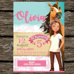 Horse Birthday Parties, Cowgirl Birthday, Sons Birthday, Birthday Party Decorations, Birthday Ideas, Caballo Spirit, Spirit The Horse, Free Birthday Invitations, Horse Party