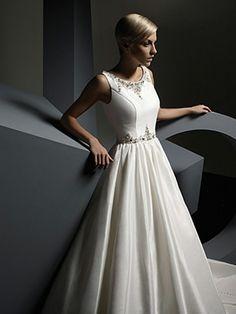 Ball Gown Straps Taffeta Floor-length Beading Wedding Dresses Shop uk