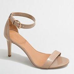 factory patent high-heel sandals