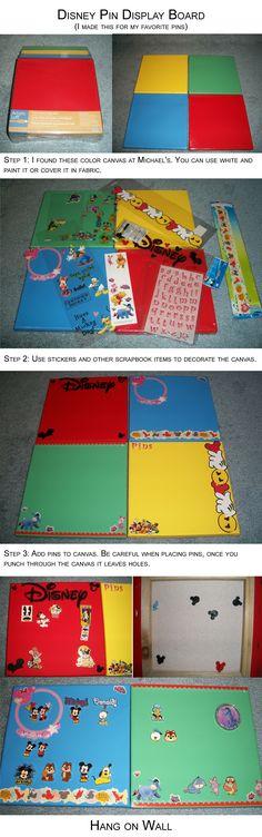 Disney Pin Display Board/Canvas