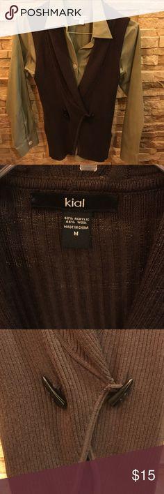 Kiel sweater vest Brown sweater vest Kial Sweaters Cardigans