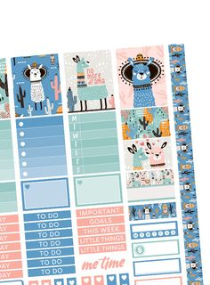 Free printable planner stickers kit