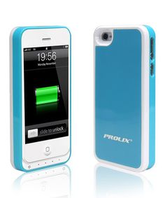Another great find on #zulily! White & Blue Protective Battery Case for iPhone 4/4s by Prolix USA #zulilyfinds