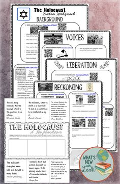 This video webquest and extension activity includes urls, qr codes, and questions to help students understand the horrors of the Holocaust. It also includes a foldable graphic organizer to help students reflect upon what they have just seen.
