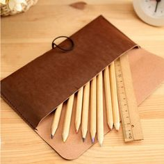 New-Suede-Leather-Cosmetic-Makeup-Bag-Pen-Pencil-Stationery-Case-Zipper-Pouch