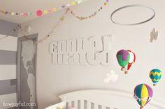 Typographic baby name wall-art | How Joyful