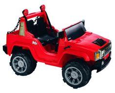 COCHE ELÉCTRICO NIÑOS Hummer rojo 12V RC, IndalChess.com Tienda de juguetes online y juegos de jardin